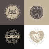Vector set of design elements, badges and labels in vintage styl Royalty Free Stock Images