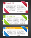 Vector set of design elements. Royalty Free Stock Photos