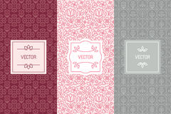 Vector set of design elements for cosmetic packaging Royalty Free Stock Photo