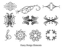 Vector set of design elements including music symbol treble clef Stock Images