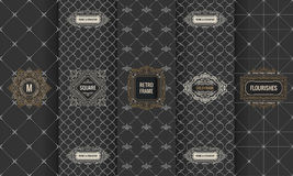 Vector set of design elements labels, icon, logo, frame, luxury packaging for the product Royalty Free Stock Images