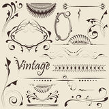 Vector set: design elements. And page decoration Royalty Free Stock Photography