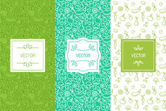 Vector set of design elements, seamless patterns and backgrounds Royalty Free Stock Photography