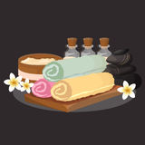 Vector set, design elements on SPA and healthy lifestyle theme. vector illustration