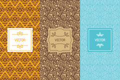 Vector set of design elements and templates for food or chocolat Royalty Free Stock Photo