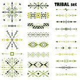 Vector set of design elements in tribal style. Brush set royalty free illustration