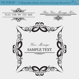 Vector Set of Design Elements.  Royalty Free Stock Photography