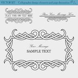 Vector Set of Design Elements.  Royalty Free Stock Images