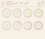 Vector set of design elements. For web interface Stock Photography