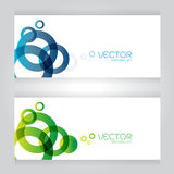 Vector set Design - eps10 Simple and Colorful blue green Circles on Stock Photography