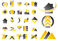 Vector set of design symbols. Abstract vector illustration of a set of logo and design symbols Stock Image