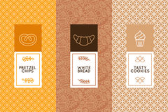 Vector set of design templates and elements Royalty Free Stock Photo