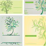 Vector set of design templates with trees Stock Photo