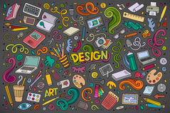 Vector set of design theme items Royalty Free Stock Photography