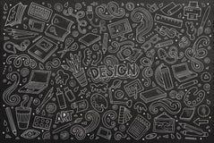 Vector set of design theme items Royalty Free Stock Photos