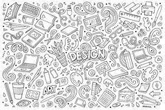 Vector set of design theme items Royalty Free Stock Image