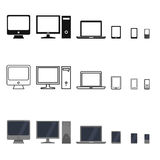 Vector Set of Device Icons. Stock Photos