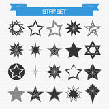 Vector set of different abstract stars Stock Images