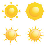 Vector Set Of Different Abstract Suns Isolated Stock Photos