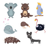 Vector set of different animals of Australia. Stock Images