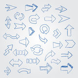 Vector set of different arrows. Stock Photography