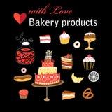 Vector set of different baking stock illustration