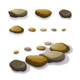 Vector set of different boulders and stones Royalty Free Stock Image