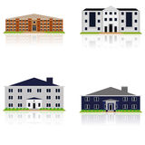 Vector Set Of Different Building Illustrations Isolated Royalty Free Stock Photo