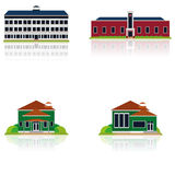 Vector Set Of Different Building Illustrations Isolated Royalty Free Stock Photography