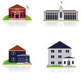 Vector Set Of Different Building Illustrations Stock Photo