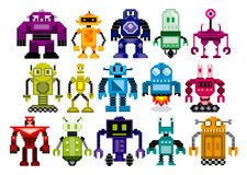 Vector Set Of Different Cartoon Robots Isolated Stock Images