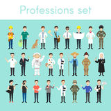 Vector set of different colorful man professions. Cartoon men characters Stock Photos