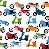 Vector Set Of Different Colorful Motorcycles Stock Photos
