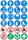 Vector set of different communication signs. Vector illustration set of different international communication signs. All vector objects and details are isolated Royalty Free Stock Photos