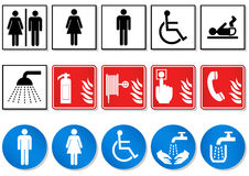 Vector set of different communication signs. Royalty Free Stock Image