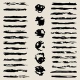 The vector set of different grunge brushes. The vector set of different form grunge brushes Stock Photo