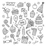 Vector set of different hand drawn holiday Royalty Free Stock Images