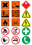 Vector set of different international signs. Vector illustration set of different laboratory associated international signs. All vector objects and details are Stock Image