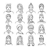 Set of isolated people images Royalty Free Stock Photo