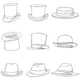 Vector Set of Different Men Hats Stock Image