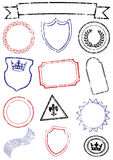 Vector set of different mock up stamps. royalty free illustration