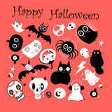 Vector set of different objects for Halloween Stock Image
