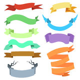 Vector Set of Different Ribbons for Your Text. Royalty Free Stock Photography