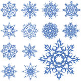 Vector set of different snowflakes Stock Photos