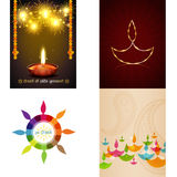 Vector set of different style diwali background illustration Stock Photo