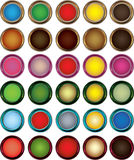 Web Buttons. Vector set of different style web buttons Royalty Free Stock Image