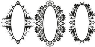 Vector Set of Different Styles Frame Silhouettes Stock Photos