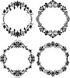 Vector Set of Different Styles Frame Silhouettes Royalty Free Stock Images
