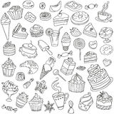 Vector set of different sweets. Sweets icon. Sweets logo Stock Photography