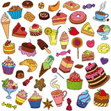 Vector set of different sweets. Sweets icon. Sweets logo Royalty Free Stock Photo